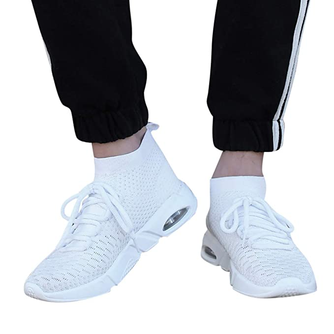 Mymyguoe Zapatillas de Deporte Ligeras Transpirables de Hombres Zapatillas Casuales Calcetines Zapatos Zapatos para Hombre Zapatillas Zapatos de Running ...
