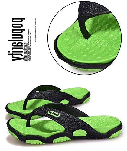 green Ligero Playa LXXAMens Chanclas Mulas Black Peso Verano qwASIOa0