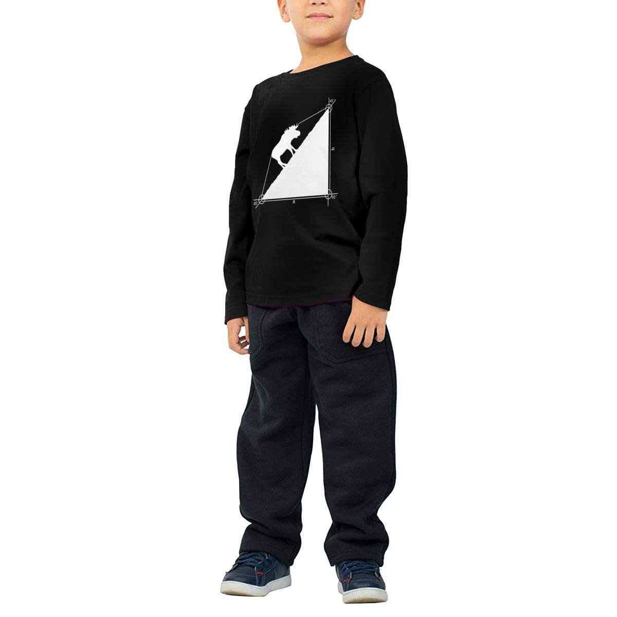 CERTONGCXTS Baby Girls Little Boys Funny Moose ComfortSoft Long Sleeve T-Shirt