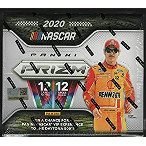 2020 Panini Prizm NASCAR Racing Factory Sealed Hobby Box 12 Packs, 12 Cards per Pack Massive 144 Cards Per Box 4 Autographs per box on average. Chase Rookie Cards of Hailie Deegan, Brittany Zamora and Autograph Rookie of Sam Meyer. Star parallels, memorabilia and Autos of Joey Logano, Chase Elliott, Denny Hamlin and Brad Keselowski are also possible BONUS pack of 2020 Leaf Draft Football Included with chance for Gold Pre-Rookie of Joe Burrow and Justin Herbert