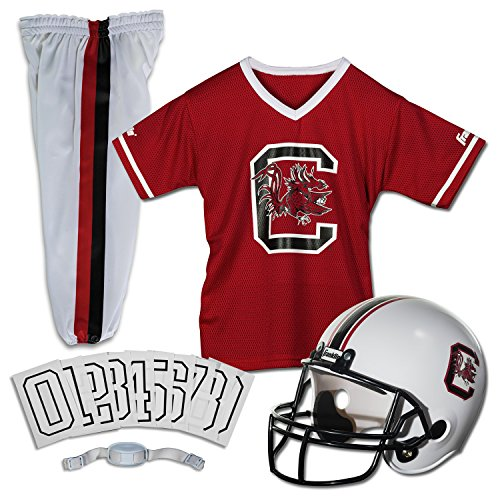 Franklin Sports NCAA South Carolina Fighting Gamecocks Deluxe Youth Team Uniform Set, Small - Nfl Team Uniform Set