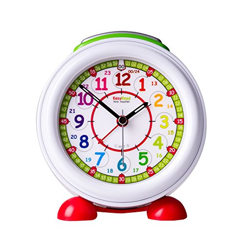EasyRead Time Teacher Children's Alarm Clock with Night Light, 12 & 24 Hour Time, Rainbow Clock ()