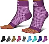 SB SOX Compression Foot Sleeves for Men & Women - Best Plantar Fasciitis Socks for Plantar Fasciitis Pain Relief, Heel Pain, and Treatment for Everyday Use with Arch Support (Purple, Large)