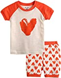 Vaenait baby [FreeShipping] 12M-7T Kids Girls 2pcs Clothing Set Pumping Heart XL