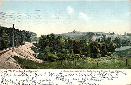 A Country Landscape, Along the Route of the Rochester and Eastern Rapid Railway Original Vintage Postcard