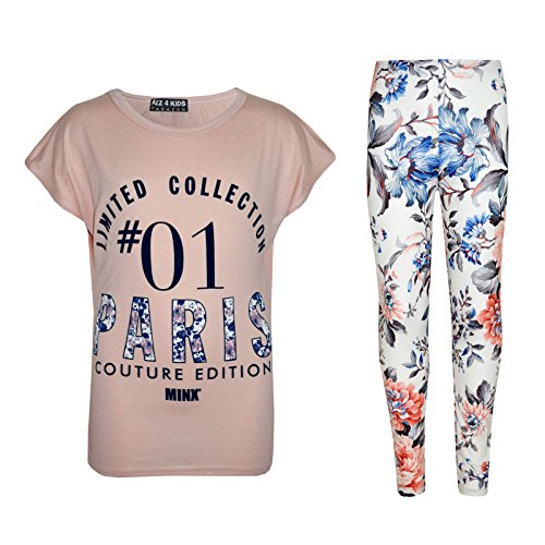 moda Paris Kids A2z 8 12 Pesca a y Legging 01 Print Top os 13 Girls Moderno elegante 4 Edad 11 9 7 10 de Kids OY5rOw