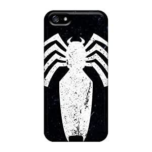 Shock Absorbent Cell-phone Hard Covers For Iphone 5/5s With Support Your Personal Customized Lifelike Venom Logo Pictures AlissaDubois