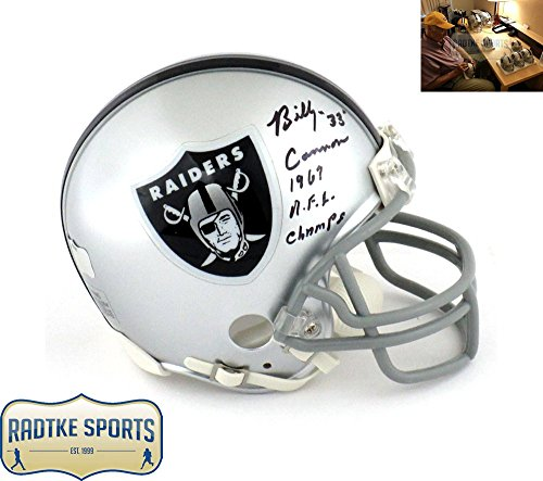 "Billy Cannon Autographed/Signed Oakland Raiders Riddell NFL Mini Helmet with ""1967 AFL Champs"" Inscription"