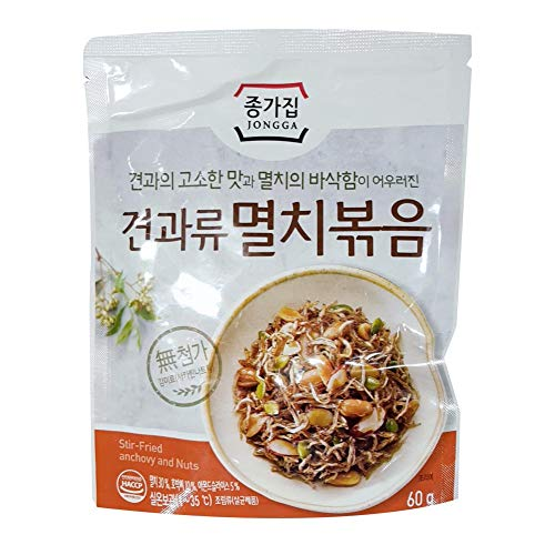 Stir Fried Anchoby and Nuts 60g 종가집 견과류 멸치볶음