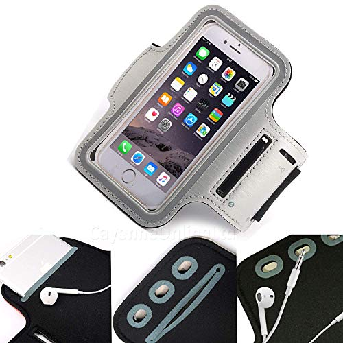 DOT. Universal Cell Phone Holder Sweat Resistant Running Sports Workout Gym Armband For Realme C2 or Any Screen Between…