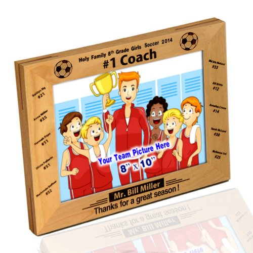 Thanh 39 Personalized Gifts '#1 Soccer Coach' Photo Frame 8