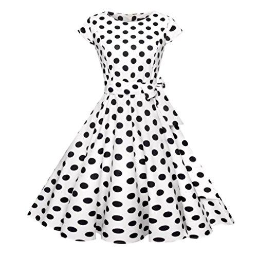 LHWY Kleid Damen Elegant Frauen Kurz Kleider Retro Vintage Bodycon ...