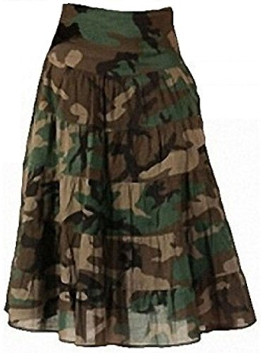 Women'S Woodland Camouflage Cotton Gauze Skirt by Bellawjace Clothing