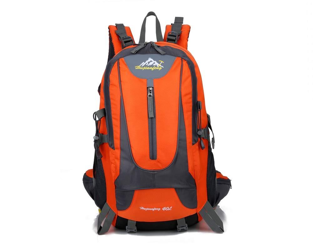 AHWZ 40L ハイキングバックパック ハイキングバックパック スポーツバックパック 防水 通気性 多機能 レジャー キャンプ バックパック 最高  オレンジ B07HRXVWYB