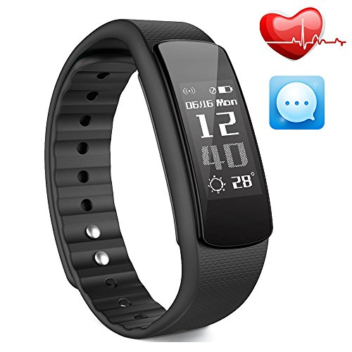 IWOWNFIT i6 HR Fitness Tracker Smart Bracelet with Dynamic Heart Rate Monitor Deep/Light Sleep Tracking ,Call,Text&Calendar Alerts Calories Steps Track Waterproof Wristband (Cable Pro Set Full)