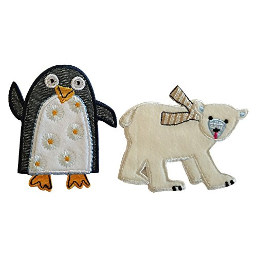 - Polar Bear 8X7Cm Penguin 7X8Cm Iron-On Designer Patch Used For Crafts Jeans Clothing Fabric Gifts To Iron On Sew On Iron On Patches Personally Clothes Birthday Christening Birth Application Sports Fo