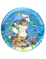 Lucky Doug 40''X40'' Baby Tummy Time Water Play Mat, Upgrade Infant Toys Inflatable Water Play Mat Baby Toys 0-3 3-6 6-12 Months Newborn Babies Toddlers, 0.35mm Thickness PVC Fabrics Baby Water Mat Toys