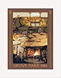 Matted Print: GPI - Fireplace