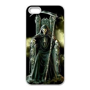Unique Phone Case Design 19Santa Muerte - Grim Reaper- For Apple Iphone 5 5S Cases