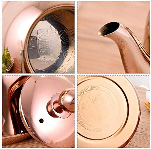 Color : 1, Size : 3L Stainless Steel Tea Kettle Whistling Metal Kettle with Soft Grip Handle Tea Kettle for Induction Cooktop