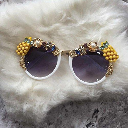sol con Piedras Redondas Flecos Color X666 Preciosas Balneario Gafas de 4 2 Playa Barroco Gafas Gafas 5If8qTYn