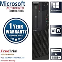 Lenovo ThinkCentre M92P Small Form Business High Performance Desktop PC (Intel Core i5-3550 3.3GB Quad Core,16GB DDR3,2TB HDD,DVD,DP to DVI Cable, WiFi,Windows 10 Professional)(Certified Refurbished)
