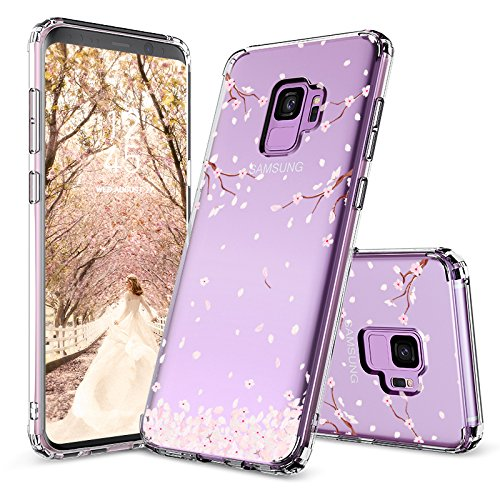 Galaxy S9 Case, Galaxy S9 Case for Girls, MOSNOVO Cherry Blossom Floral Printed Flower Pattern Clear Design Transparent Case with TPU Gel Bumper Protective Case Cover for Samsung Galaxy S9 ()
