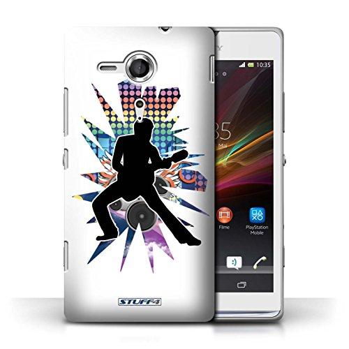 Etui / Coque pour Sony Xperia SP/C5303 / étendre Blanc conception / Collection de Rock Star Pose