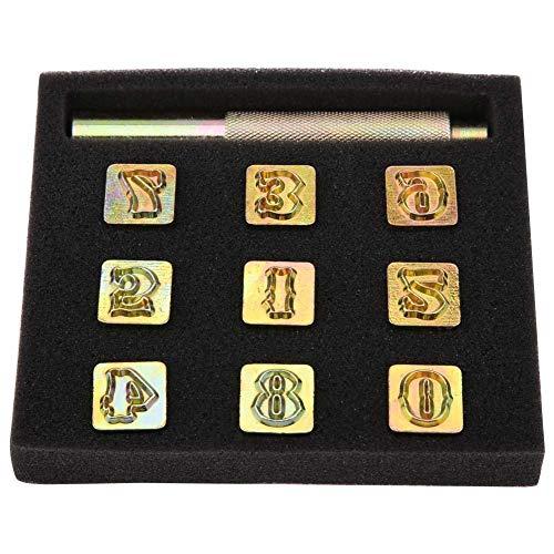 13mm Metal Stamp Punch Vintage Design 0~8 Number Leather Stamping Die Tool Craft Stamp Punch
