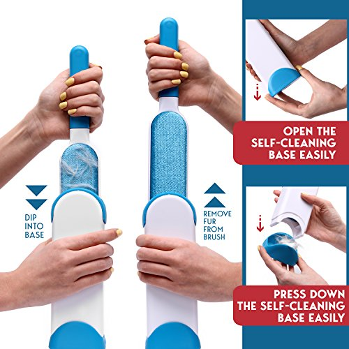 Pet-Hair-Remover-Fur-Remover-Pet-Lint-Remover-Fur-Removal-Pet-Fur-Lint-Remover-Double-Sided-Brush-with-Self-Cleaning-Base-Dog-Cat-Hair-Remover-for-Furniture-Clothing-Car-Seat