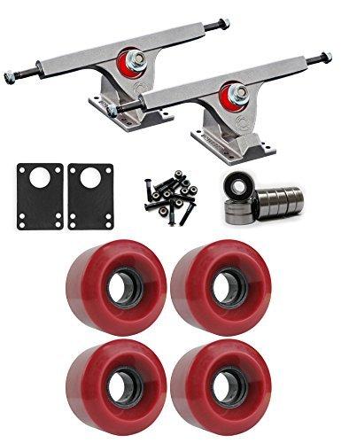 Caliber Raw Longboard Trucksホイールパッケージ60 mm x 41 mm 83 a 220 Cレッド [並行輸入品]   B078WVHY9C