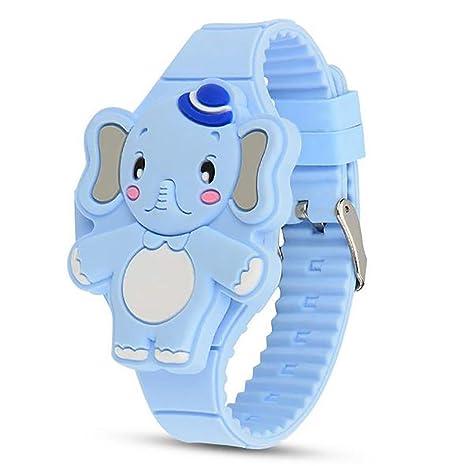 Bangcool Reloj Digital Dibujos Animados Encantadora Forma de Elefante Reloj de Pulsera Reloj LED para Niños