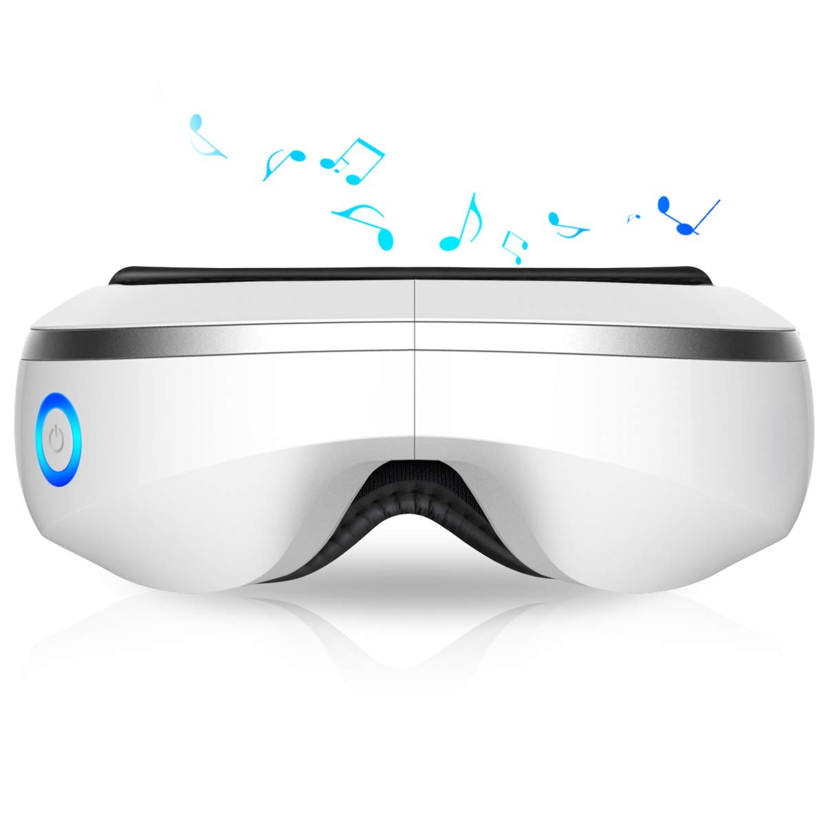 OYOCO-Eye-Massager-with-Heat-Music,Vibration,Air Pressure Electric Portable Shiatsu Massager for Dry Eyes Eyestrain Temple Headaches Fatigue Relief Great Gift Idea (White)