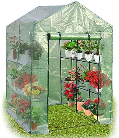 Yongtaifeng Serre De Jardin 4 Etages 143x73x195cm Maison Tente De Plante Serre Pour Tomates En Vert Amazon Fr Jardin