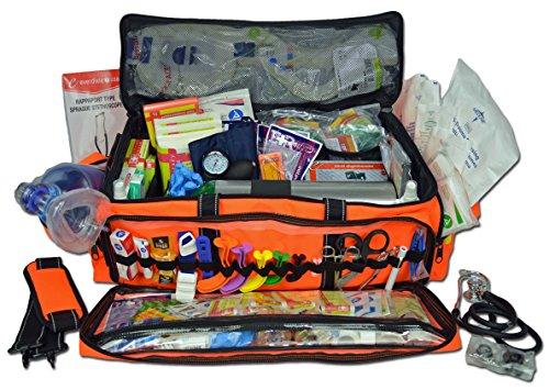 Lightning X Jumbo Oxygen Medic First Responder EMT/EMS Bag Stocked Trauma Kit (Orange) ()