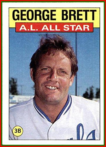 (1986 Topps #714 George Brett HOF KANSAS CITY)