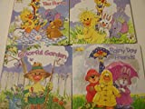Little Suzy's Zoo Who's Laughing, Colorful Garden, Ellie's Tea Party, and Rainy Day Friends(set of 4)