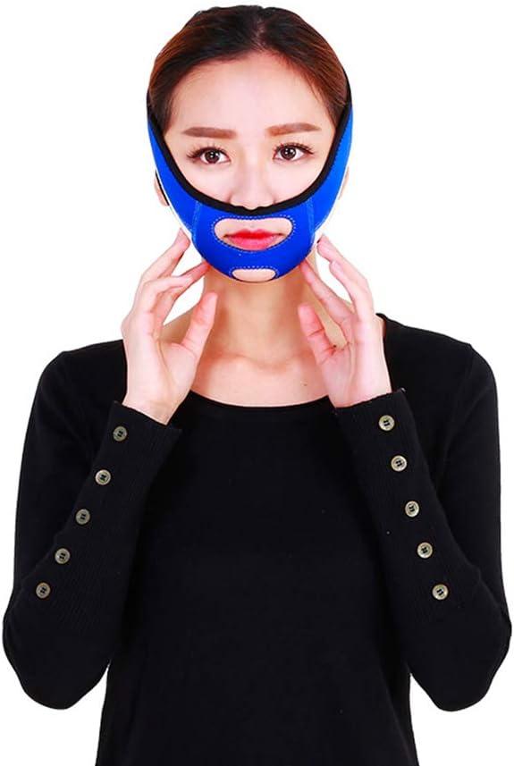 ZHongWei Cinturón de elevación facial - Vendas de elevación facial Mejoran poderosamente la herramienta de corrección facial de doble maxilar, la máscara con forma de cara Artefacto en V Lifting Facia