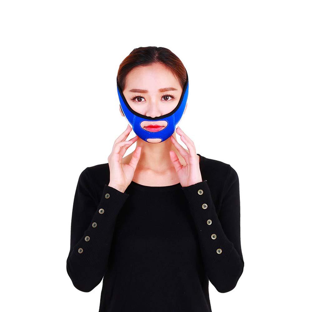XiaoXIAO Cinturón de elevación facial - Vendas de elevación facial Mejoran poderosamente la herramienta de corrección facial de doble maxilar, la máscara con forma d