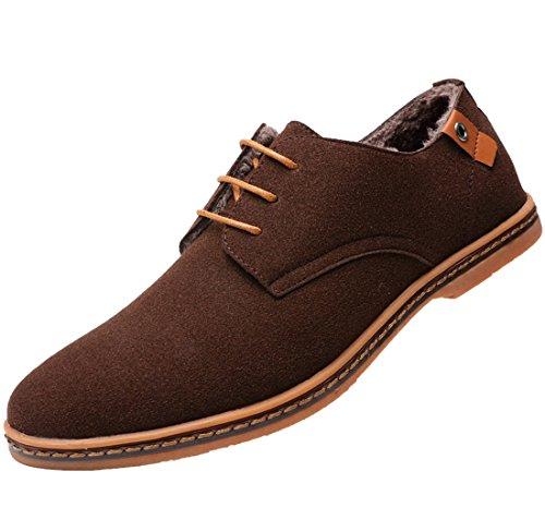 Chaussures de Ville pour Hommes Neuves Cuir PU à Lacets Bout D'affaires Oxfords Chaussures Marron Ixdlr2b