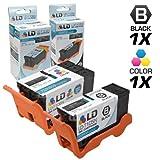 LD Compatible Set of 2 (Series 23) High Yield Black & Color Ink Cartridges for the Dell V515w Printer: 1 Black T105N, 1 Color T106N