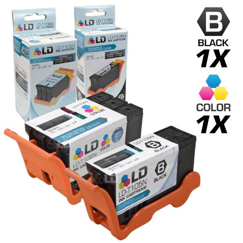 (LD Compatible Ink Cartridge Replacement for Dell V515w Series 23 High Yield (1 Black, 1 Color, 2-Pack))