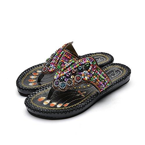 Pantofole Nero E Ciabatte Qingchunhuangtang Spiaggia Sulla R4dwPdqxg