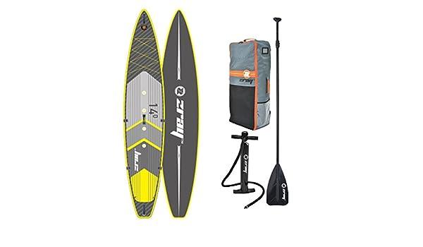 z-ray R2 14 Stand Up Paddle Board paquete con bomba/remo/mochila y cinturón cierre, 6