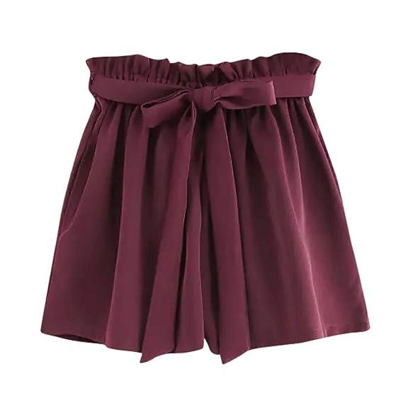 b5c656a2171f AMUSTER Bekleidung Hosen Damen Kurze Hosen Hotpants Sommer Casual Shorts  High Waist Shorts Sporthose Kurze Hose