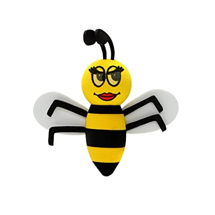 Queen bee Car Antenna Topper Decors Smiling Bee Ornaments Car Decoration