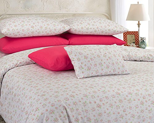 American Thread Collection 6-Piece Microfiber Bed Sheet Set - Deep Pocket - Cool and Wrinkle Free (Queen, Flowers Pink) ()