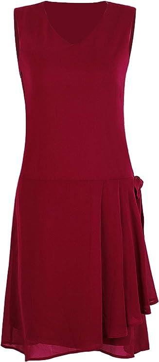 Flapper Dresses, Quality 1920s Flapper Dress VIJIV Womens 1920s Inspired Flapper Dress High Tea Drape with Bow Fashion Roaring 20s Great Gastby Dress Downton Abbey $38.99 AT vintagedancer.com