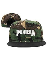 CieMoAs Pantera Band Unisex Adjustable Flat Visor Hat Baseball Cap Black