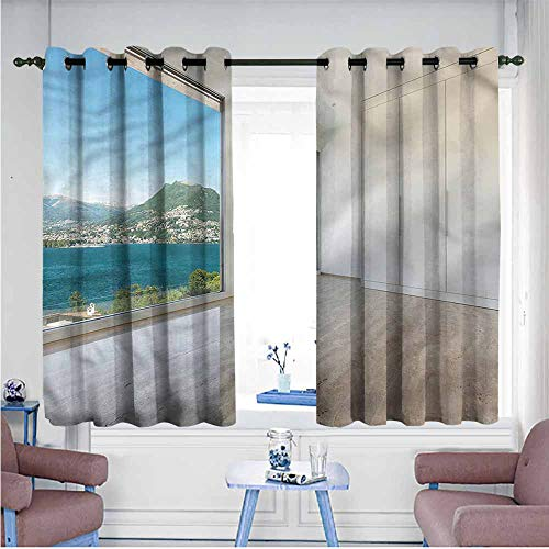 (VIVIDX Blackout Curtains Panels,Modern,Penthouse Interior View,Treatment Thermal Insulated Room Darkening,W63x45L)